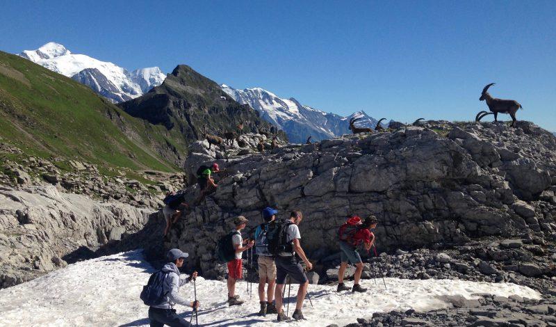 Pour les 15-18 ans, en face du Mont Blanc